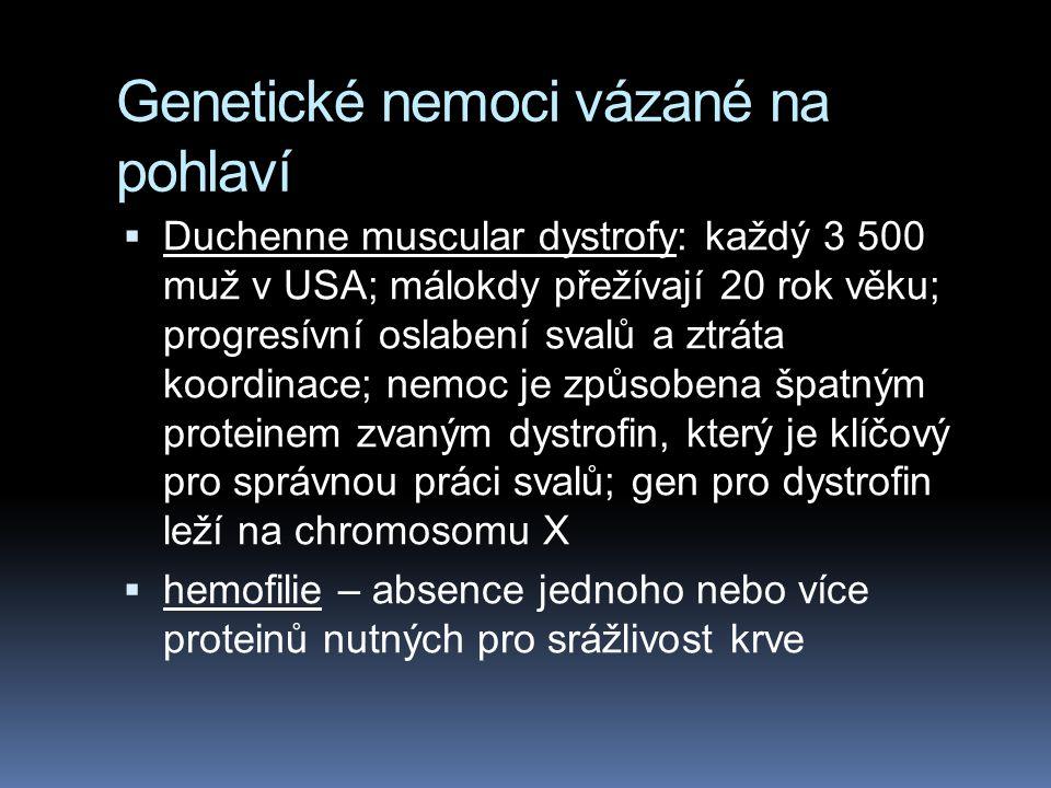 Genetické nemoci vázané na pohlaví