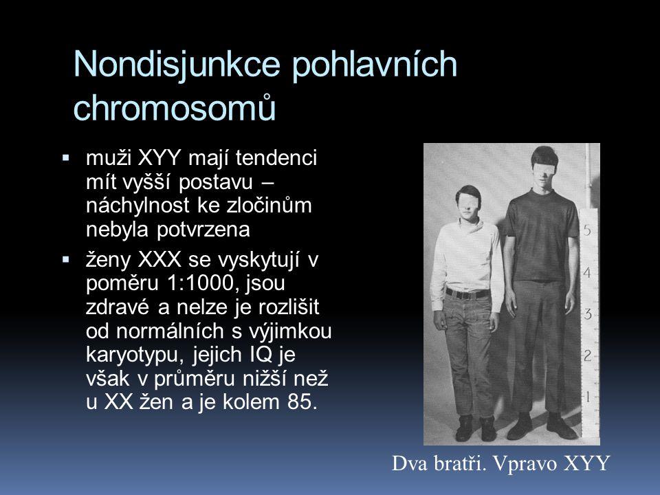 Nondisjunkce pohlavních chromosomů