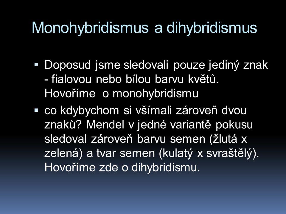 Monohybridismus a dihybridismus