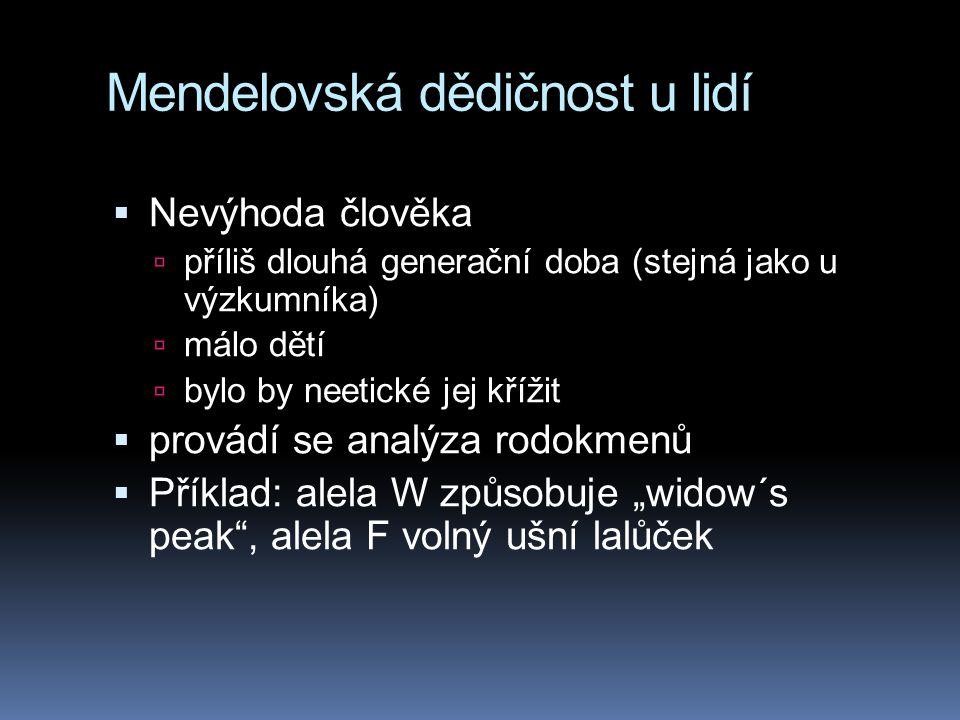 Mendelovská dědičnost u lidí