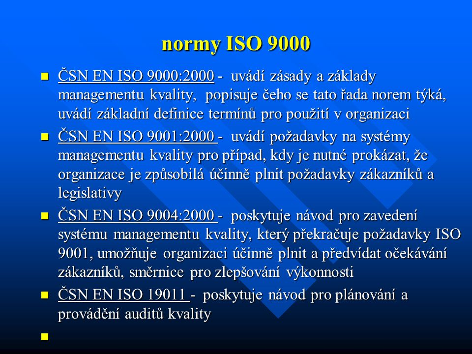 normy ISO 9000