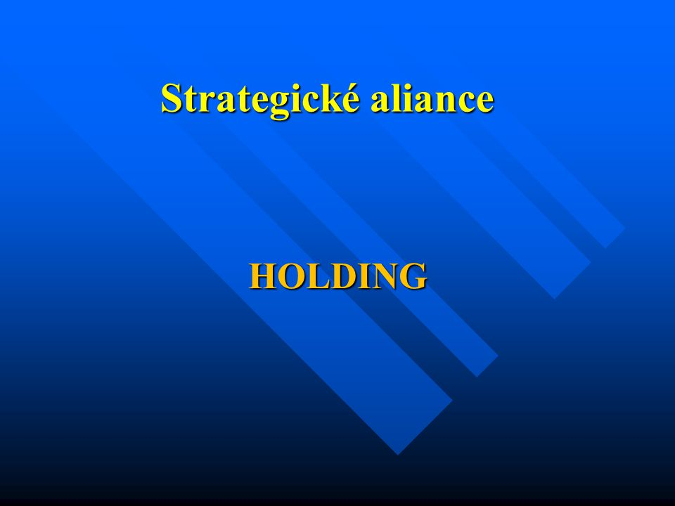 Strategické aliance HOLDING