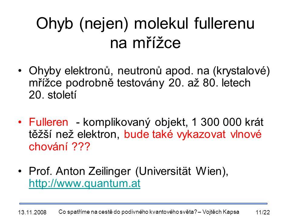 Ohyb (nejen) molekul fullerenu na mřížce