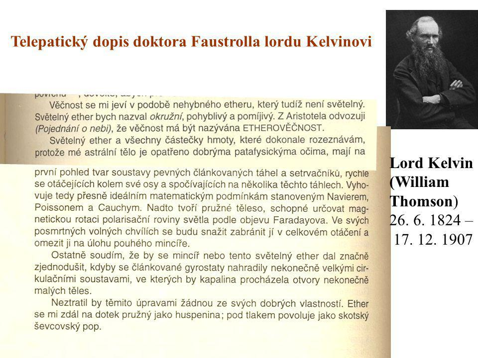 Telepatický dopis doktora Faustrolla lordu Kelvinovi