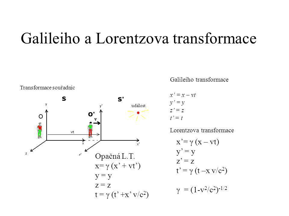 Galileiho a Lorentzova transformace