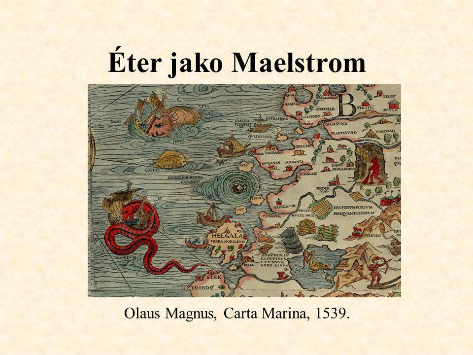 Éter jako Maelstrom Olaus Magnus, Carta Marina, 1539. .