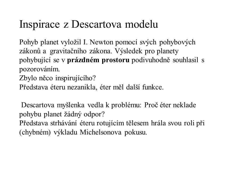Inspirace z Descartova modelu Pohyb planet vyložil I