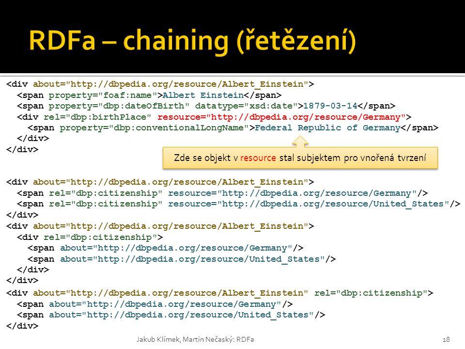 RDFa – chaining (řetězení)