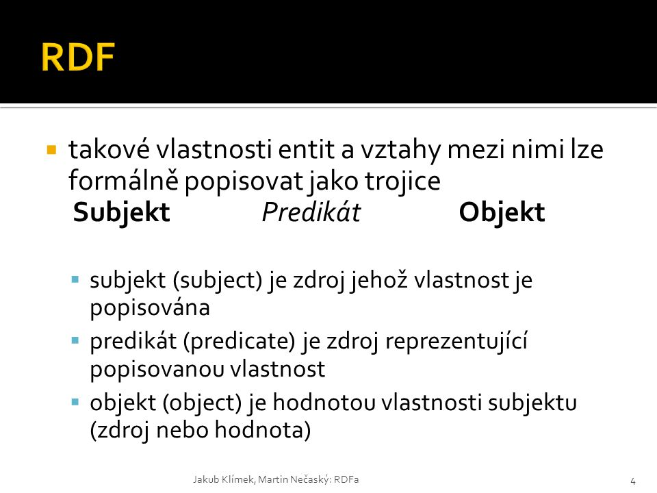 Subjekt Predikát Objekt