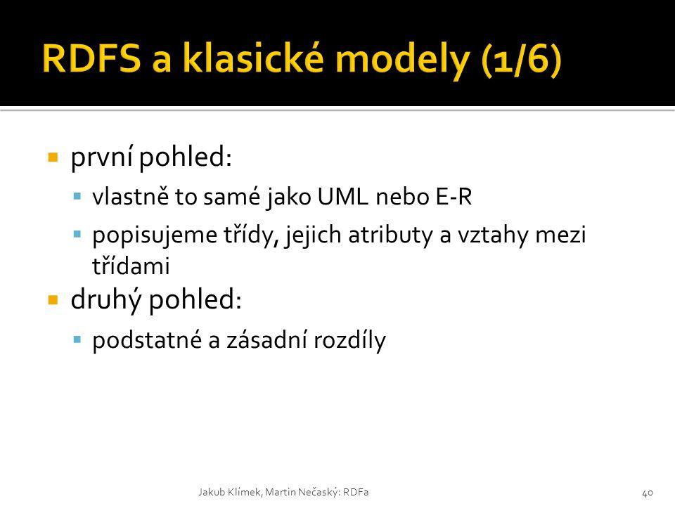 RDFS a klasické modely (1/6)
