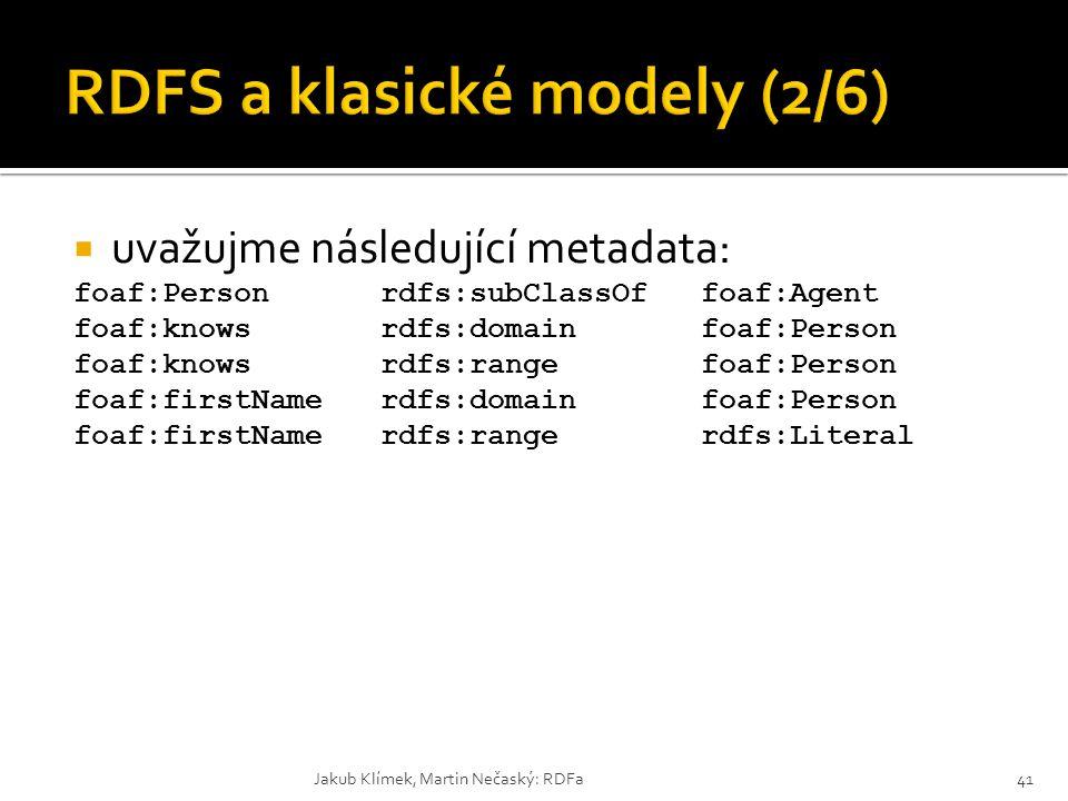 RDFS a klasické modely (2/6)