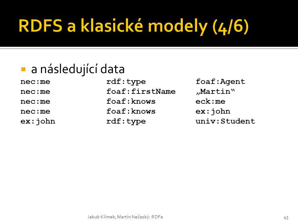 RDFS a klasické modely (4/6)