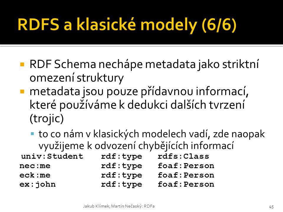 RDFS a klasické modely (6/6)