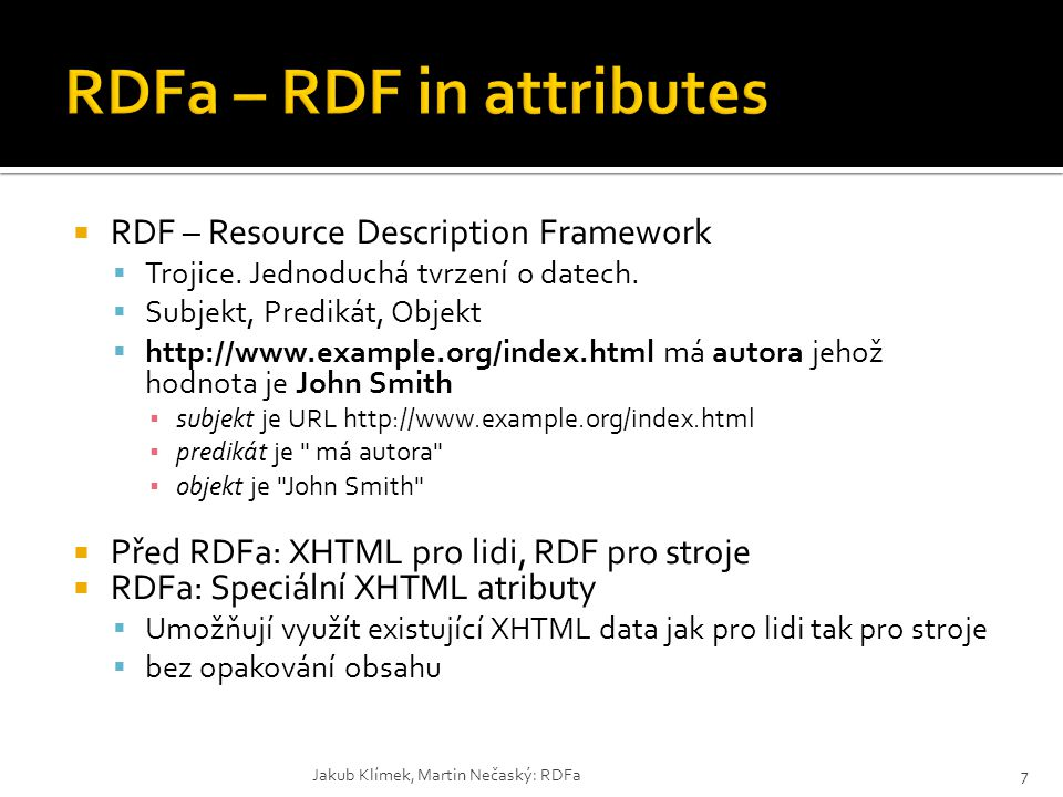 RDFa – RDF in attributes