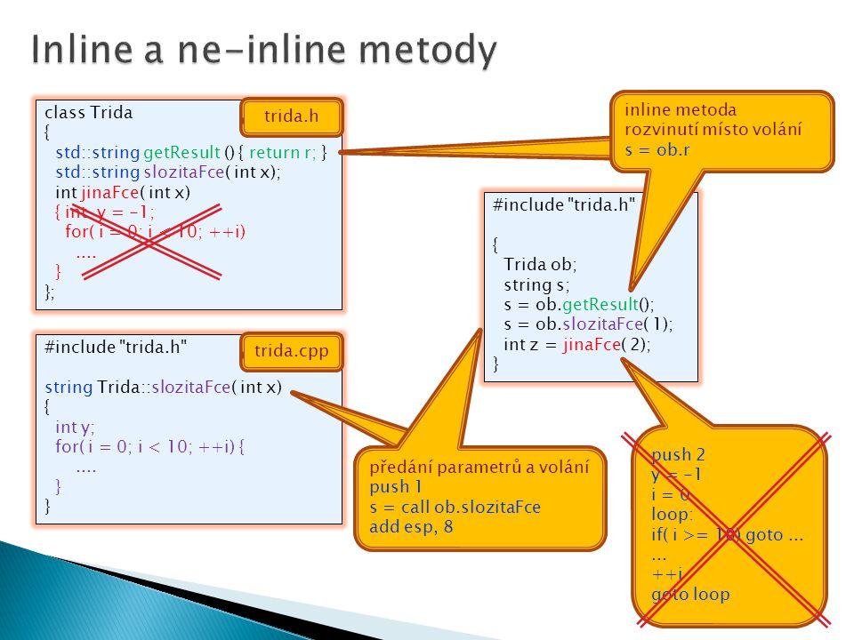 Inline a ne-inline metody