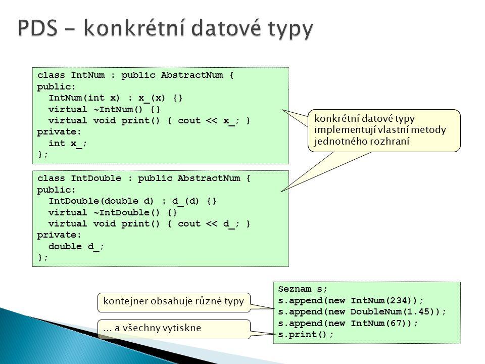 PDS - konkrétní datové typy
