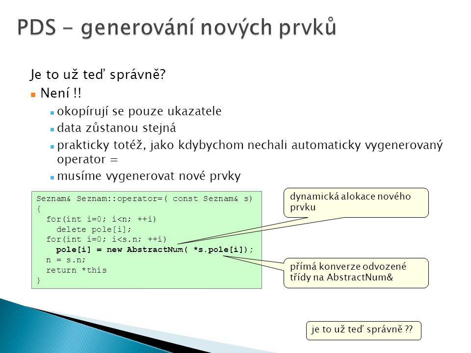 PDS - generování nových prvků