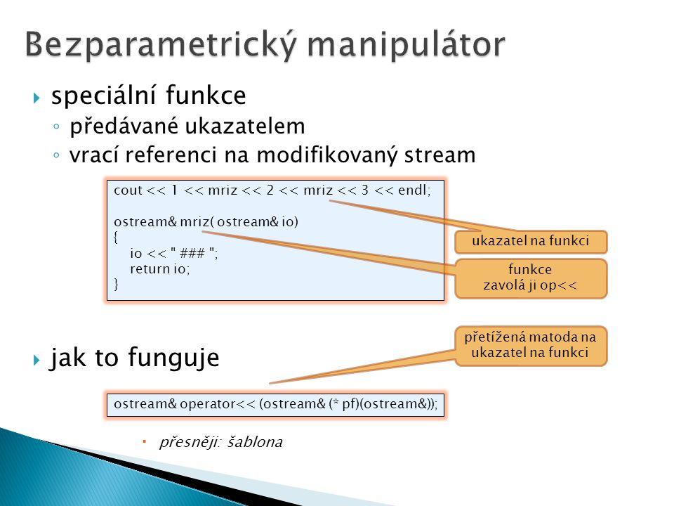 Bezparametrický manipulátor
