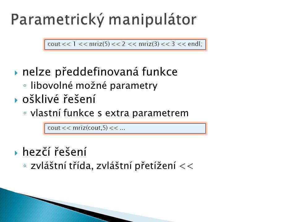 Parametrický manipulátor