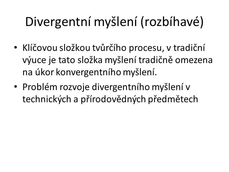 Divergentní myšlení (rozbíhavé)