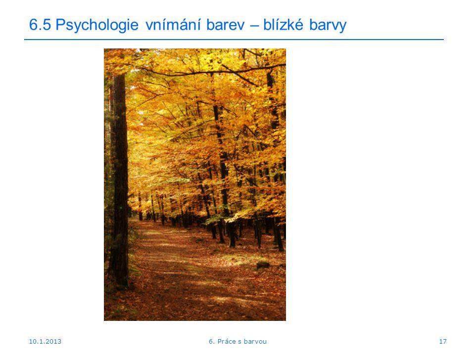 6.5 Psychologie vnímání barev – blízké barvy