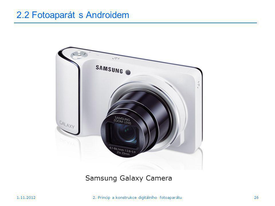 2.2 Fotoaparát s Androidem