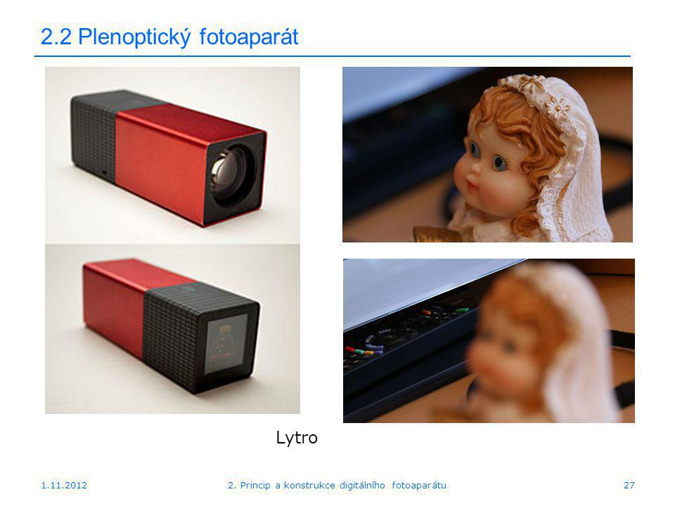 2.2 Plenoptický fotoaparát