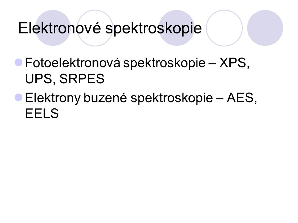 Elektronové spektroskopie