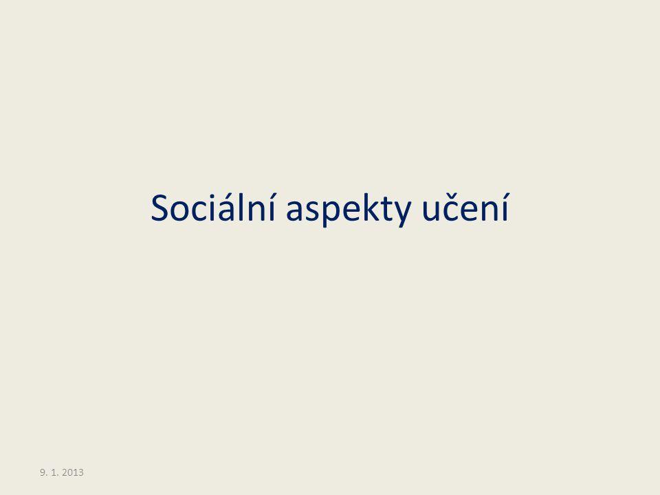 Sociální aspekty učení