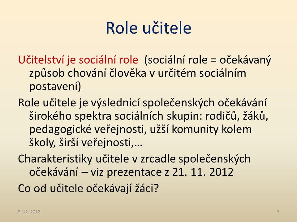 Role učitele