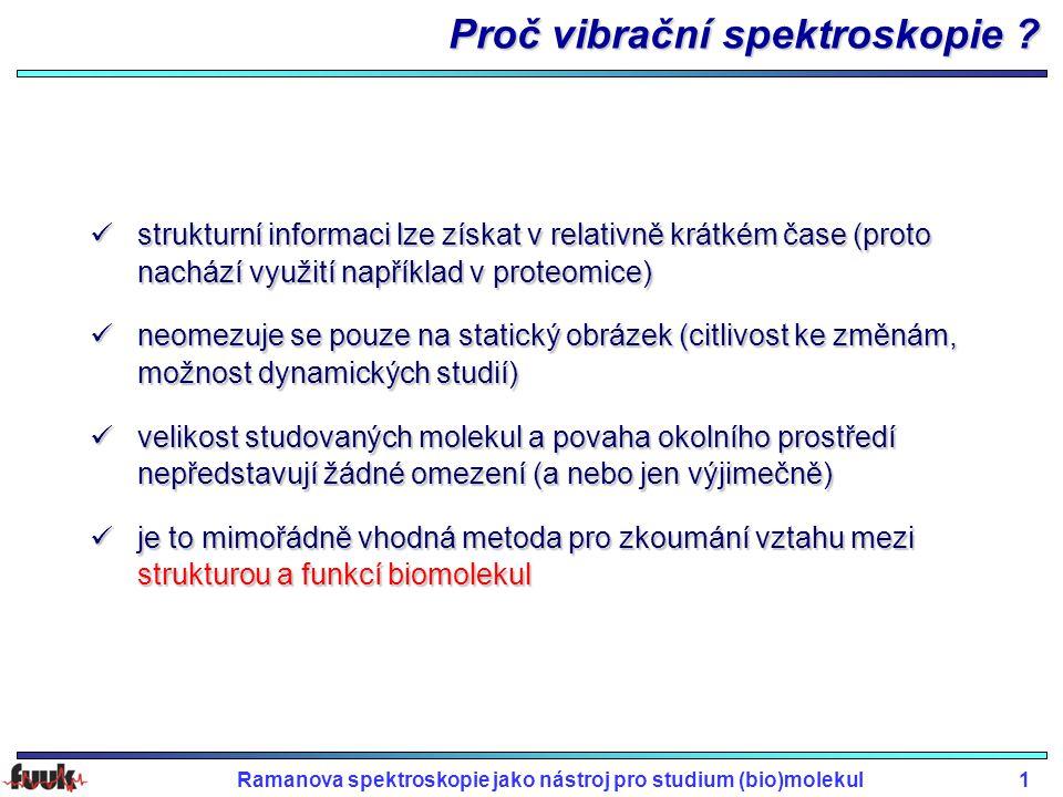 Proč vibrační spektroskopie