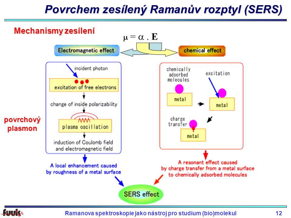 Povrchem zesílený Ramanův rozptyl (SERS)