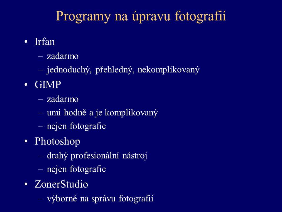 Programy na úpravu fotografií