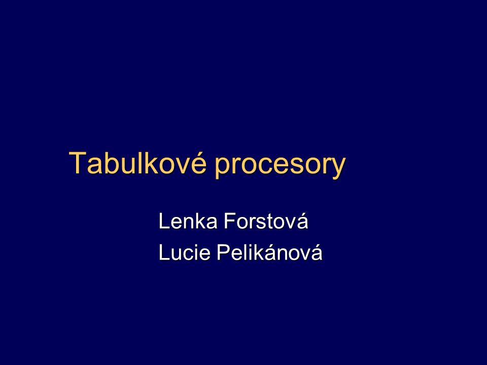Lenka Forstová Lucie Pelikánová