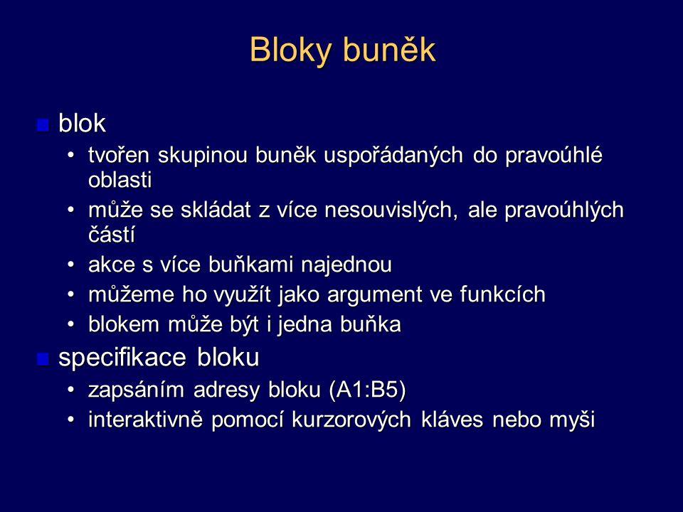 Bloky buněk blok specifikace bloku