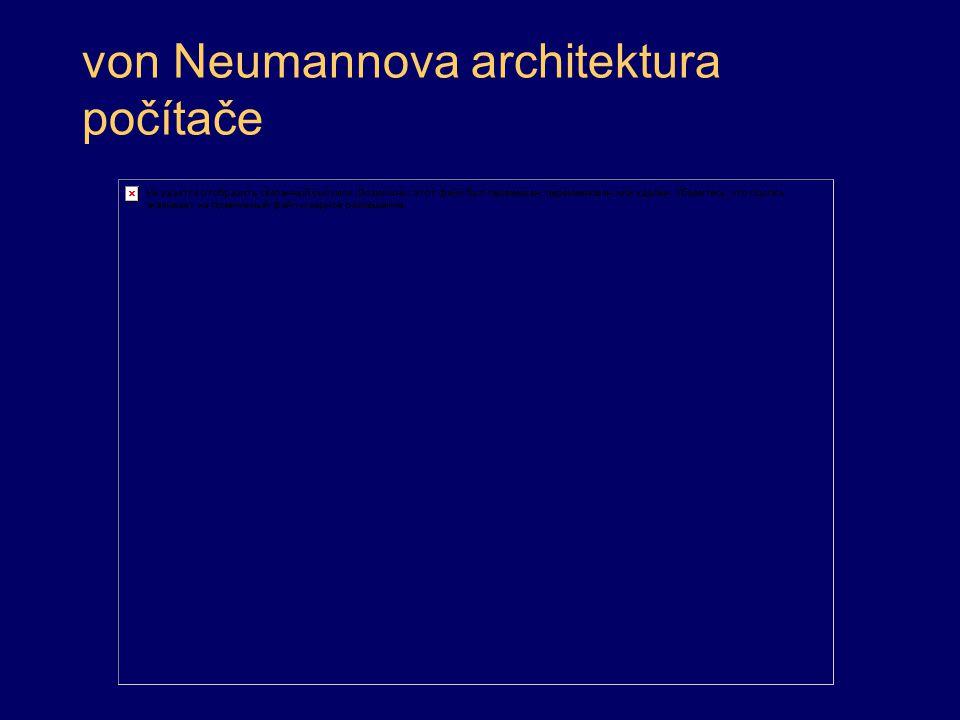 von Neumannova architektura počítače