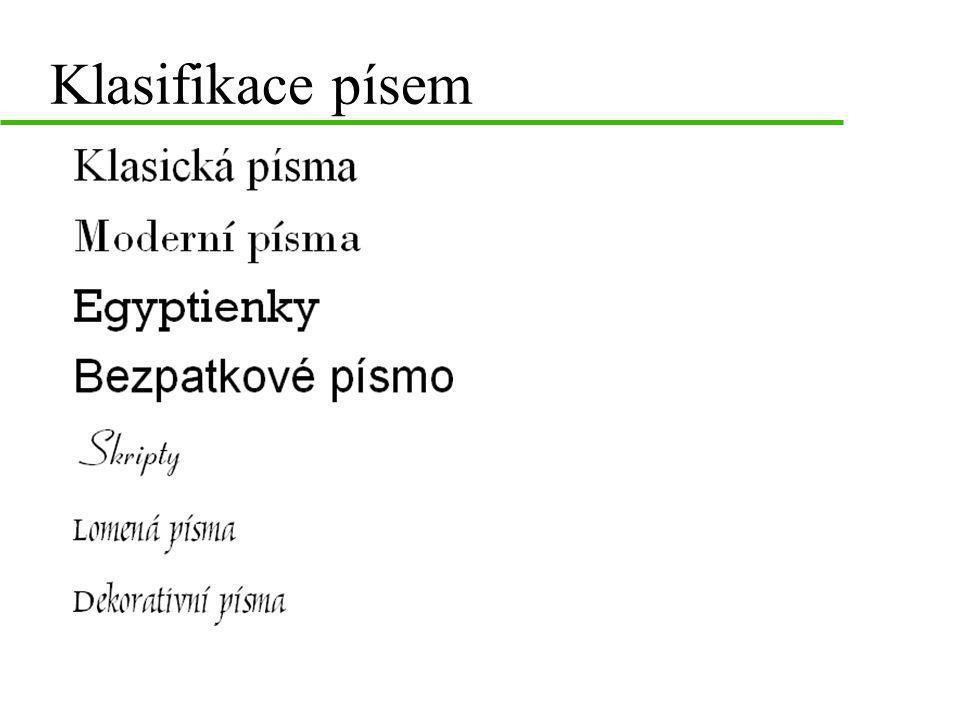 Klasifikace písem