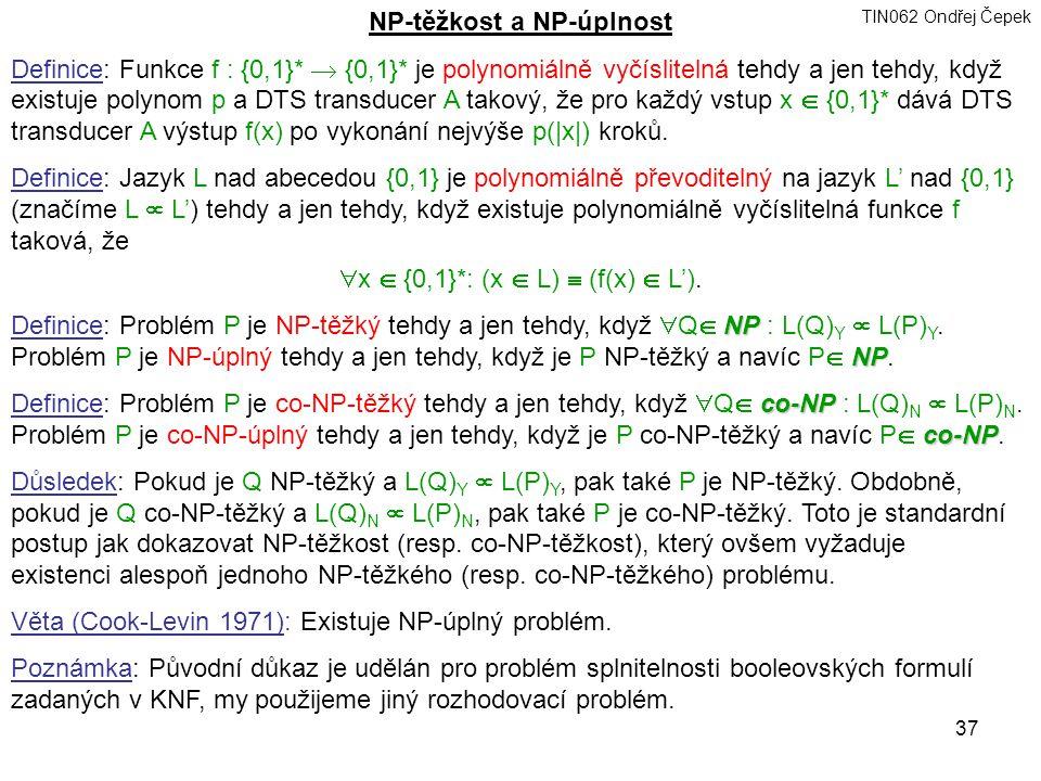 NP-těžkost a NP-úplnost