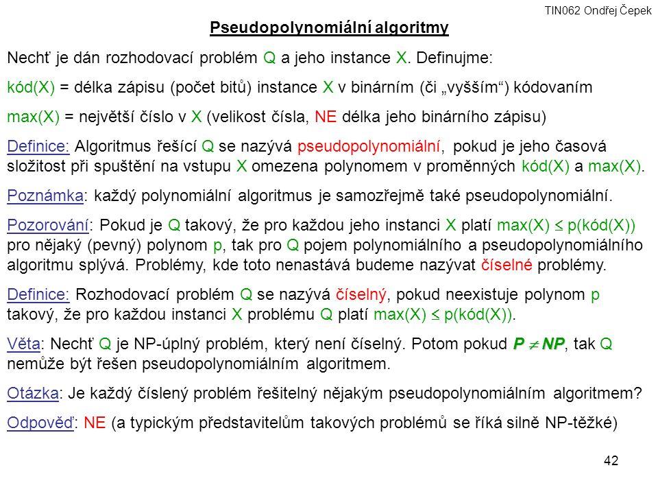 Pseudopolynomiální algoritmy