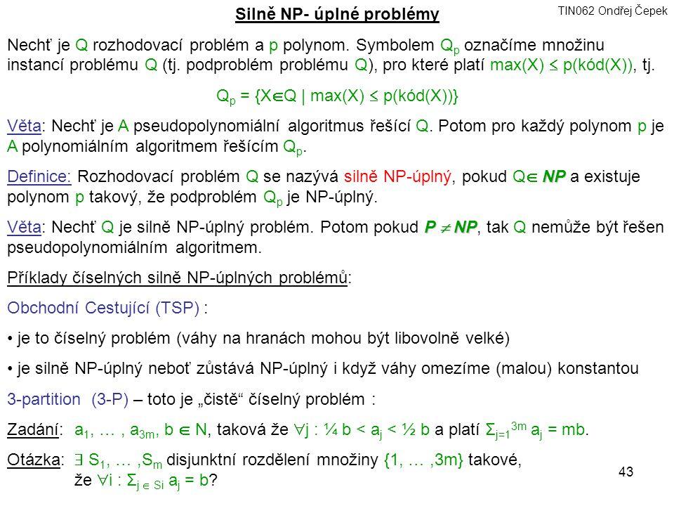 Silně NP- úplné problémy