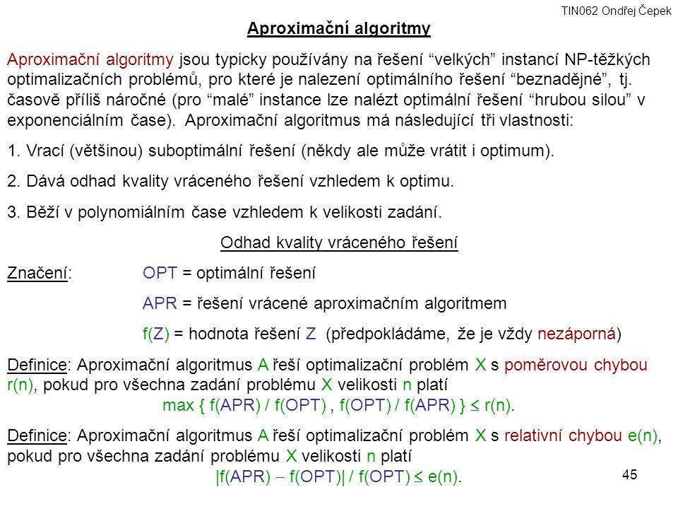 Aproximační algoritmy