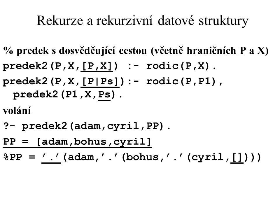 Rekurze a rekurzivní datové struktury