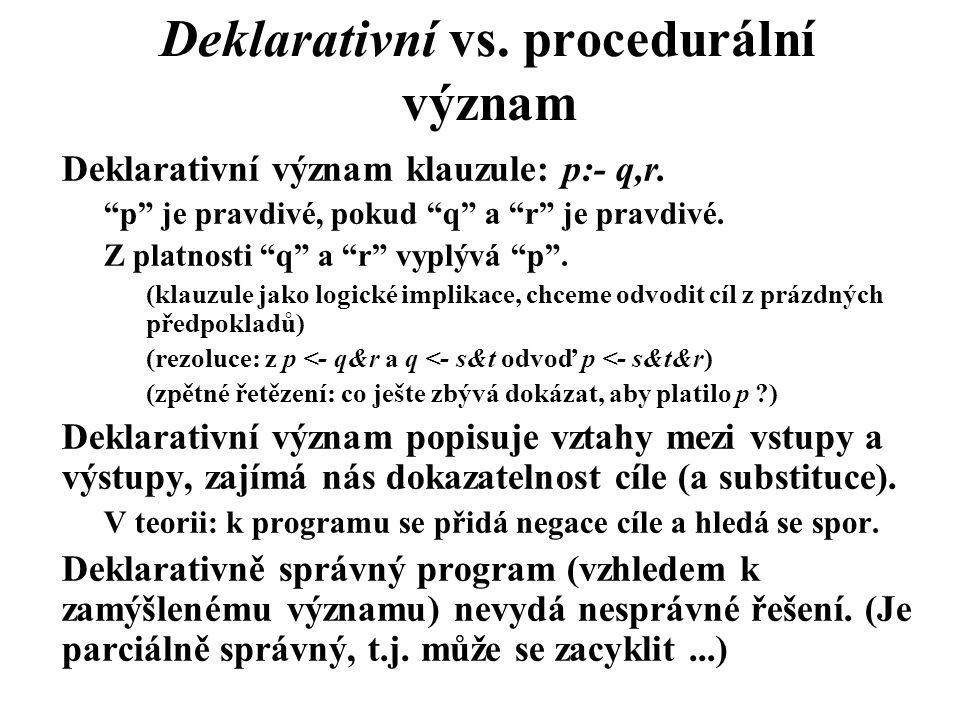 Deklarativní vs. procedurální význam
