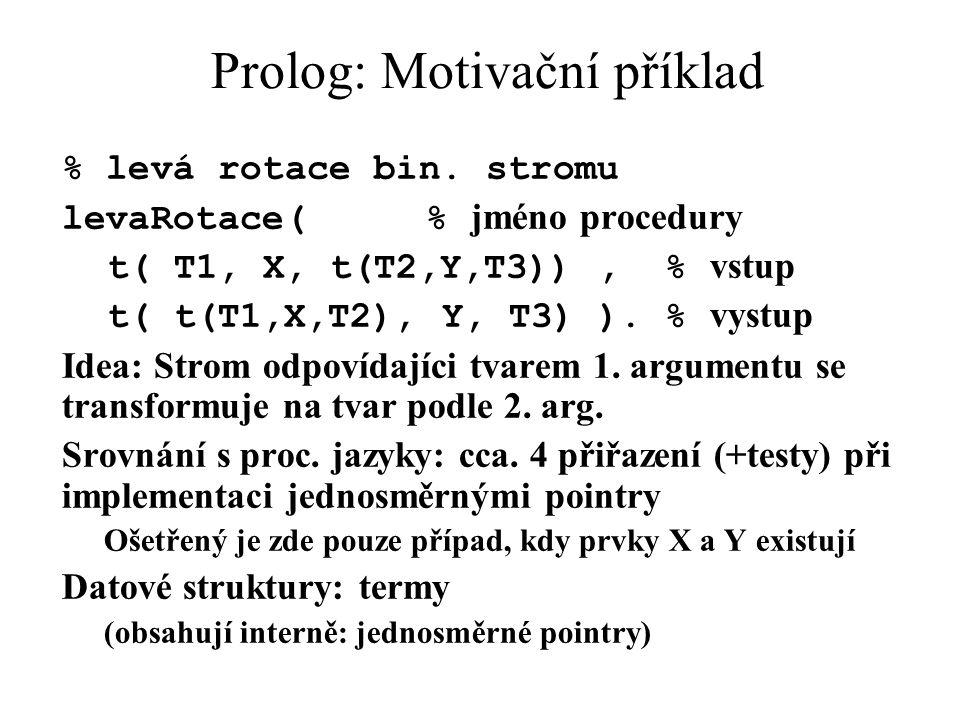 Prolog: Motivační příklad