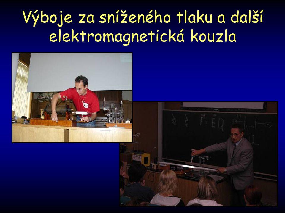 Výboje za sníženého tlaku a další elektromagnetická kouzla