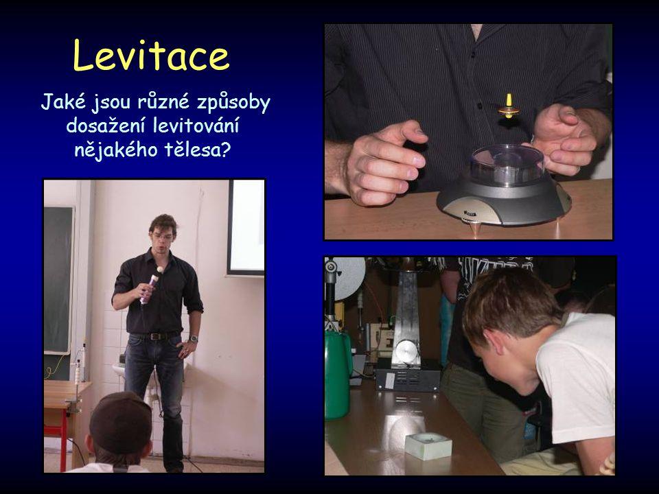 Jaké jsou různé způsoby dosažení levitování nějakého tělesa