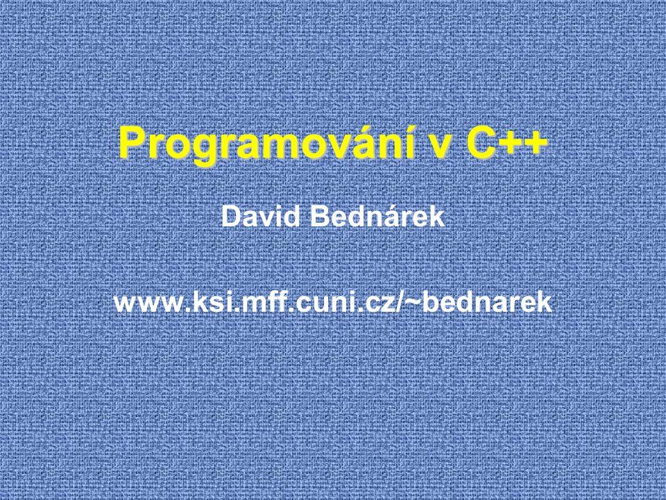 David Bednárek www.ksi.mff.cuni.cz/~bednarek