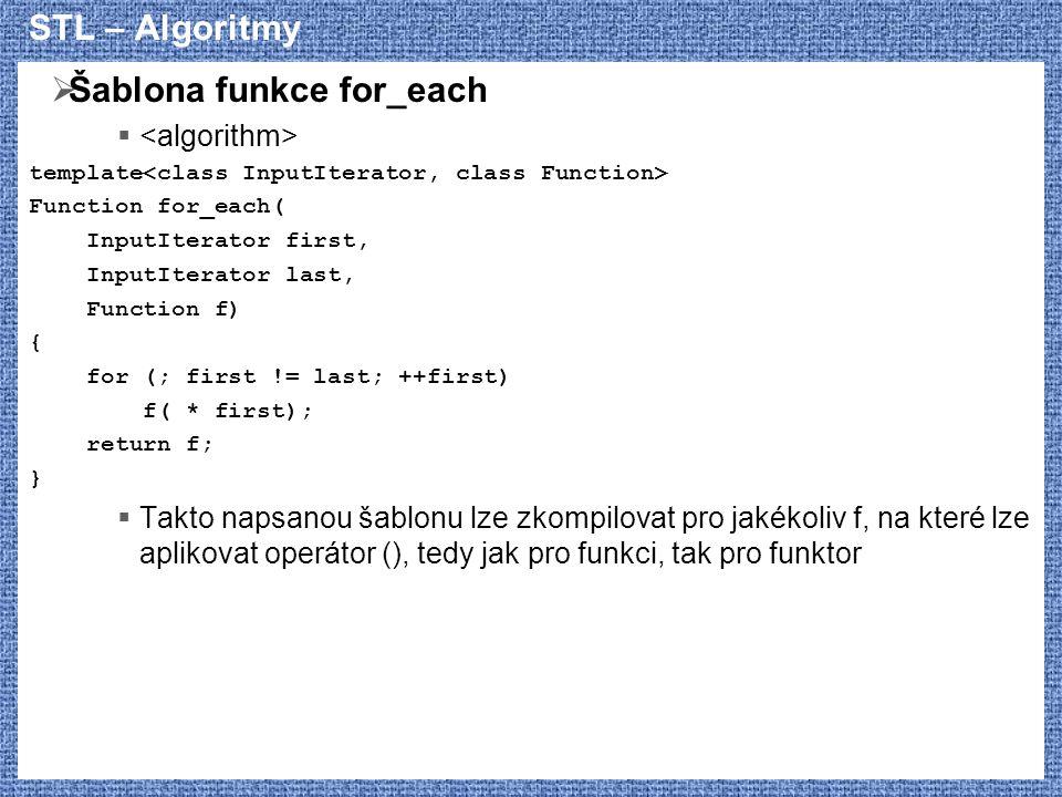 Šablona funkce for_each