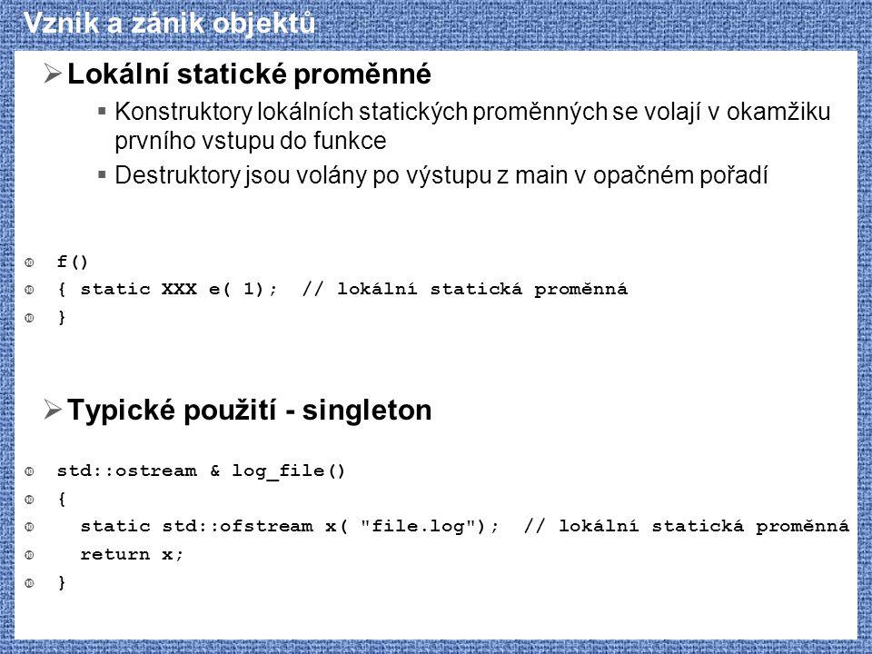 Lokální statické proměnné
