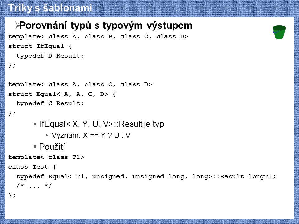 Porovnání typů s typovým výstupem